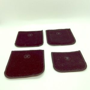 🌾 Chanel • Set of 4 Velvet Compact Covers